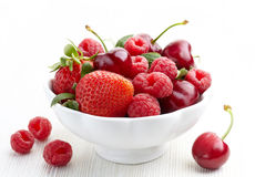 Bowl of fresh berries Royalty Free Stock Image