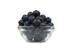 A bowl of fresh blueberries, isolated Stock Image