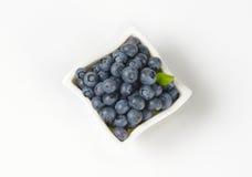 Bowl of fresh blueberries Royalty Free Stock Image