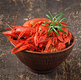 Bowl of fresh boiled crawfish Royalty Free Stock Photo