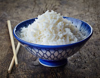 Bowl of fresh boiled rice Royalty Free Stock Image