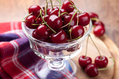 Bowl of  fresh cherry Stock Image