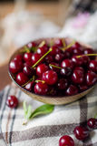 Bowl with fresh cherry berries Stock Images