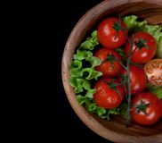 Bowl with tomatoes Royalty Free Stock Photo