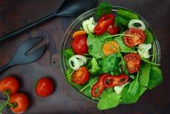 Bowl of fresh colorful salad Stock Photo