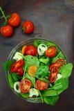 Bowl of fresh colorful salad Stock Image