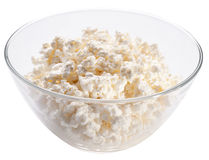 Bowl with fresh cottage cheese. Stock Photography