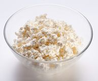 Bowl with fresh cottage cheese. Stock Image
