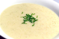 A bowl of fresh, creamy soup Stock Photography