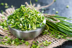 Bowl with fresh cutted Chives Royalty Free Stock Photo