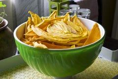 Bowl of fresh dehydrated mango Stock Image