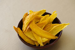 Bowl of fresh dehydrated mango Royalty Free Stock Image