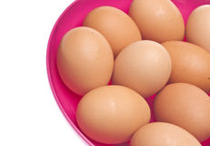 Bowl of Fresh Eggs Royalty Free Stock Images