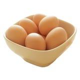 Bowl of fresh eggs Stock Image
