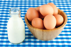 bowl of fresh eggs Royalty Free Stock Photography