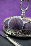a bowl with fresh figs Stock Photo