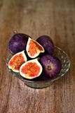 Bowl with fresh figs Stock Image
