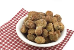 A Bowl of Fresh Fried Okra Royalty Free Stock Photography