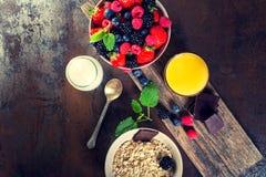 Bowl of fresh fruit. Bblackberries; raspberries; blueberries on Stock Images