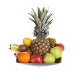 Bowl of fresh fruit Royalty Free Stock Photos