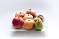 Bowl of fresh fruit. On the table royalty free stock photos