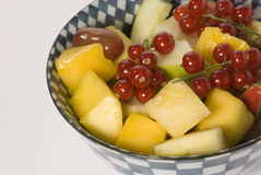 Bowl with fresh fruits Stock Photography