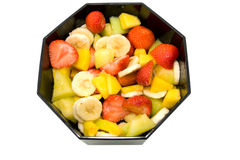 Bowl with fresh fruits Royalty Free Stock Photos