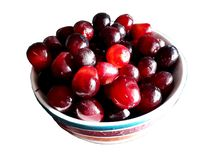 Bowl of fresh grapes royalty free stock photography