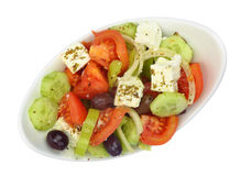 Bowl with fresh Greek Salad Royalty Free Stock Images