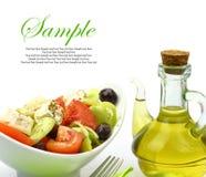 Bowl with fresh Greek Salad Stock Photos