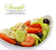 Bowl with fresh Greek Salad Royalty Free Stock Photography