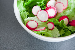 Bowl of fresh green salad Stock Photo