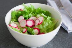 Bowl of fresh green salad Stock Photos