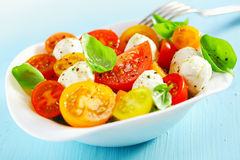Bowl of a fresh and healthy Mediterranean salad Stock Photo