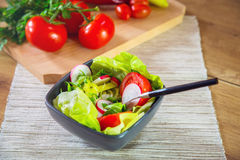 A bowl of fresh healthy vegetables. For a meal Stock Image