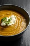 Bowl of fresh homemade sweet potato soup Stock Photo