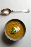 Bowl of fresh homemade sweet potato soup Stock Photos