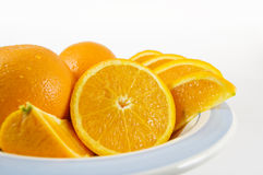Bowl of fresh juicy oranges Royalty Free Stock Photo