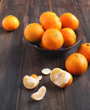 Bowl of fresh mandarins Royalty Free Stock Image