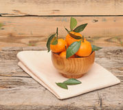 Bowl of fresh mandarins Royalty Free Stock Images