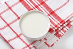 Bowl of fresh milk. Fresh milk in white bowl royalty free stock images
