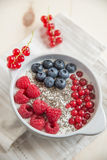 Bowl of fresh mixed berries Royalty Free Stock Photos
