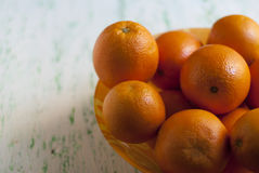 Bowl of fresh oranges Stock Photo