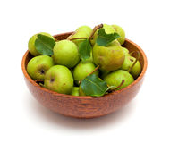 Bowl with fresh pears Royalty Free Stock Images