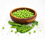 Bowl with fresh peas Royalty Free Stock Image