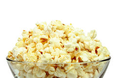 Bowl of fresh popcorn isolated Royalty Free Stock Photos