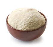 Bowl of fresh raw dough Stock Photos