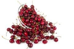 Bowl of fresh ripe cherries Stock Photos