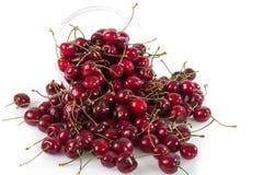 Bowl of fresh ripe cherries Royalty Free Stock Photos