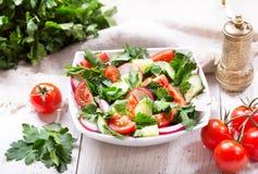 Bowl of fresh salad royalty free stock images